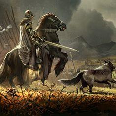 Game of Thrones fanart // el llop hauria de ser més gran Fantasy Inspiration, Character Inspiration, Character Art, Character Design, Fantasy Warrior, Fantasy Battle, Arte Game Of Thrones, Rome Antique, Knight In Shining Armor