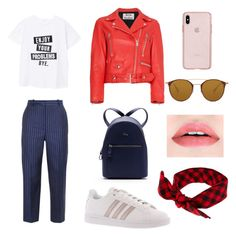 """""""Spring outfit"""" by elena-atmatzidou on Polyvore featuring MANGO, Acne Studios, adidas, Lacoste and Ray-Ban"""