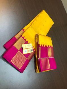 Beautiful kanjivaram sarees direct from looms. Kota Silk Saree, Silk Saree Kanchipuram, Kanjivaram Sarees, South Indian Sarees, Indian Silk Sarees, Pure Silk Sarees, Bridal Sari, Wedding Silk Saree, South Indian Weddings