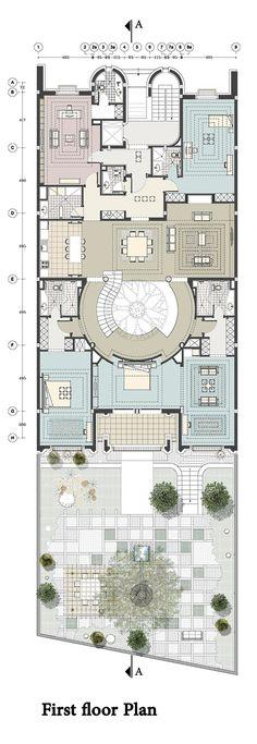 Renovación de una casa en Kaveh Teherán,Planta Primer Piso