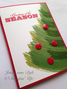 Stampin' Up! Work of Art Christmas tree 2