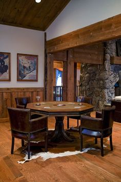 Grouse Ridge rustic family room