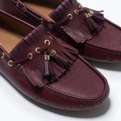 ZARA - MAN - LEATHER DRIVING SHOES WITH TASSELS