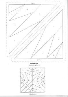 Gallery.ru / Photo # 14 - 1 - KIM-3 Free Paper Piecing Patterns, Quilt Square Patterns, Barn Quilt Patterns, Patchwork Patterns, Patch Quilt, Quilt Blocks, Foundation Paper Piecing, English Paper Piecing, Quilt Tutorials