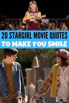 Stargirl, a Disney+ original movie, is a great movie for teens and tweens full of hope! Here are 20 Stargirl movie quotes to make you smile! Stargirl Movie, Stargirl Quotes, 2020 Movies, Funny Movies, Great Movies, Disney Movie Quotes, Disney Movies, Disney Plus, Disney Girls
