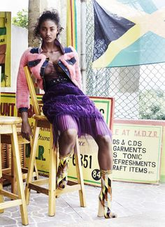 #MelodieMonrose by #LizCollins for #ElleUS March 2015