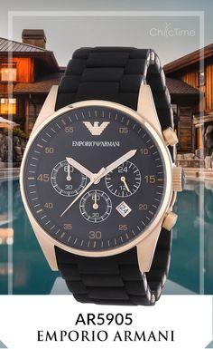 La montre Homme Armani AR5905 est un bijou de design offert par Emporio Armani. Actuellement en promotion à -62% sur Chic-Time.fr, elle est dotée d'un bracelet en silicone, d'une étanchéité de 5ATM et de la fonction dateuse.