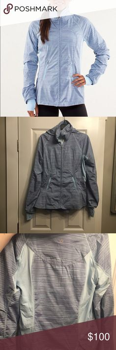 Lululemon make a break jacket Lululemon make a break running jacket. In absolute perfect condition. Size 8. Retail is $148. Has a hood and thumb holes. No trades! lululemon athletica Jackets & Coats