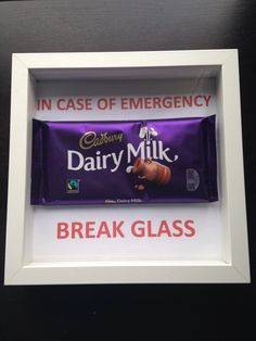 For real emergencies! Shadow box gift