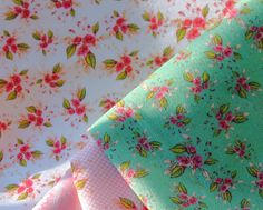 This design is from the Parson's Roses I've designed.  Most of them are pink and white.  This one is in mint.