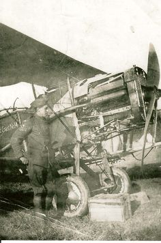 Great Uncle Frank with Bristol F2b, c.1918