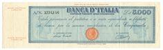 5000 LIRE - Titolo provvisorio - #scripomarket #scripobanknotes #scripofilia #scripophily #finanza #finance #collezionismo #collectibles #arte #art #scripoart #scripoarte #borsa #stock #azioni #bonds #obbligazioni