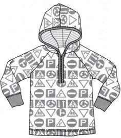 ✂Molde Gratuito de blusa de moleton com bolsos, zíper e touca tamanhos 34-36-38-40-42-44-46-48-50-52✂