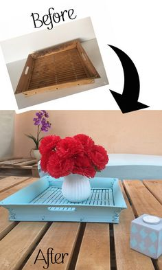 Coastal Style Tray Makeover - Thrift Store Challenge