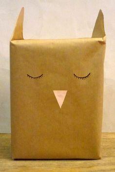 Emballage cadeau oiseau