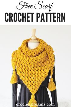 This is a crochet scarf designed using a stitch that you will absolutely love This scarf will keep you stylish and toasty Make one this season crochetscarf crochetcowl crochetscarfpattern freecrochetscarf Crochet Shawls And Wraps, Crochet Scarves, Crochet Clothes, Free Crochet Scarf Patterns, Knitting Patterns, Free Pattern, Crochet Beanie, Knit Crochet, Crochet Hats