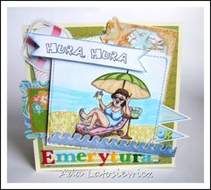emerytura - kartka Cartoon People, Retirement Parties, Card Making, Paper, How To Make, Crafts, Golf, Scrapbooking, Graphics