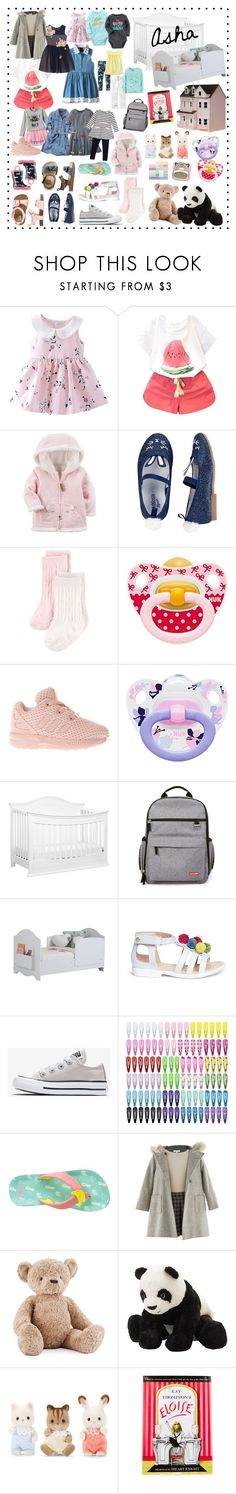"""""""Asha Eve"""" by alexandracollection ❤ liked on Polyvore featuring Hanna Andersson, Carter's, adidas, DaVinci, South Shore, Aquazzura, Lord & Taylor, Jellycat, Yottoy and Streets Ahead"""