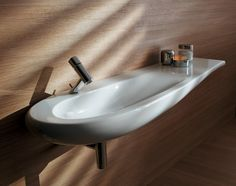 Bathroom Design, Exciting Minimalist Faucet For Contemporary Bathroom Sink Designs Mixed With Unique Corner Small Bathroom Space Inspirations: Use Small Bathroom Corner Sinks to Save Space Laufen Bathroom, Bathroom Sink Design, Open Bathroom, Bathroom Sink Faucets, Bathroom Fixtures, Bathrooms, Contemporary Bathroom Sinks, Countertop Basin, Corner Sink