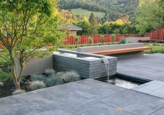 "07_barden_water_feature ""Dream Team's"" Portland Garden Garden Design Calimesa, CA"