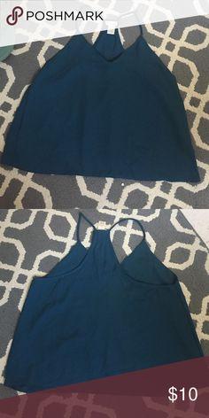 Chiffon blue tank top Blue chiffon t back tank top. Great condition never worn Wet Seal Tops Tank Tops