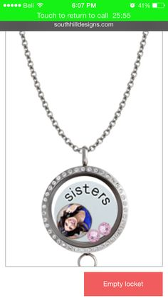 Beautiful locket with a do it yourself picture charm