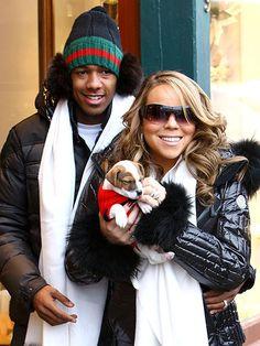 Mariah Carey with Jill E beans♥