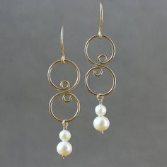Wire Wrapped Earrings, Wire Earrings, Crystal Earrings, Gemstone Jewelry, Beaded Jewelry, Fine Jewelry, Jewelry Making, Jewelry Box, Jewellery