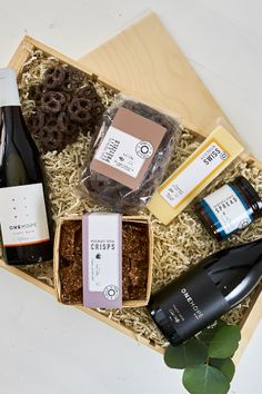Pinot Party Gift Crate Gift Crates, Wine Gift Boxes, Wine Gifts, Party Gifts, Coffee, Drinks, Kaffee, Party Giveaways, Drink