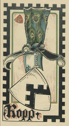 von der Ropp (German) -- Baltischer Wappen-Calendar 1902 (Baltic States Coats of Arms Calendar) published in Riga by E Bruhns with illustrations by M. Kortmann.