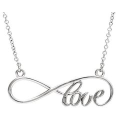 Infinity Love Necklace in 14K White Gold ($275) ❤ liked on Polyvore featuring jewelry, necklaces, infinity jewelry, 14 karat white gold necklace, white gold infinity necklace, 14k necklace and 14k jewelry