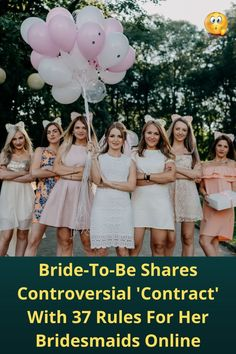 Bride-To-Be Shares #Controversial '#Contract' With 37 Rules For Her #Bridesmaids Online
