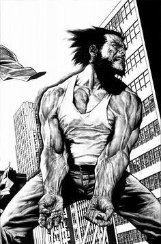 Logan (James Howlett)   art by Lee Bermejo