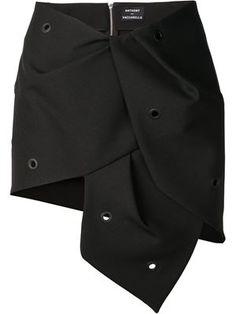 asymmetrical eyelet skirt