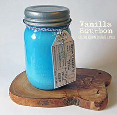 sultry vanilla bourbon scented organic candle hand-poured soy beeswax in small batches ✿