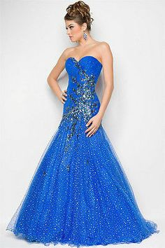 Blue Long Formal Evening Party Pageant Ball Bridal Gown Mermaid Prom Dress | eBay