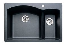 Buy the Blanco 440199 Anthracite Direct. Shop for the Blanco 440199 Anthracite Diamond Silgranit Granite Composite Drop In or Undermount Double Bowl Kitchen Sink with Split and save.