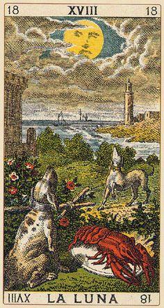 The Moon - Ancient Italian Tarot