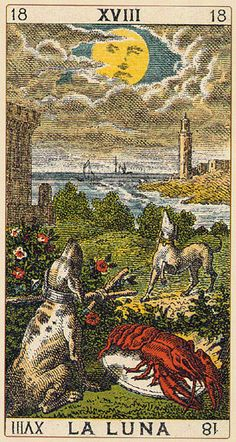 The Moon - Ancient Italian Tarot
