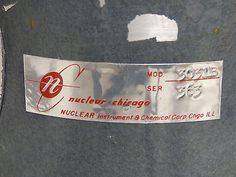 VINTAGE-Nuclear-Chicago-Auto-Sample-MODEL-3031B