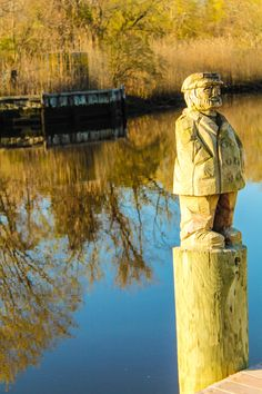 Carved Fisherman along the Peconic River, Riverhead, NY (05/02/2015)
