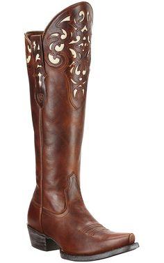 Ariat® Hacienda™ Women's Vintage Caramel Tall Top Snip Toe Western Boots | Cavender's Boot City