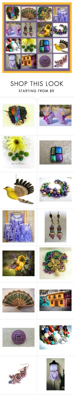 A Very Etsy Mardi Gras by funnfiber on Polyvore featuring Masquerade and vintage