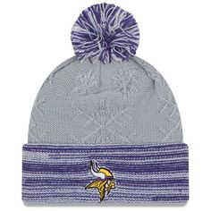 a66eb1a8f Women s Minnesota Vikings New Era Snow Crown Knit Hat Viking Woman