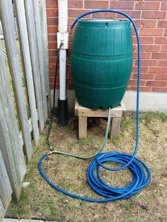 Bottom Filled Rain Barrel - DIY Rain Barrel | water storage | water conservation
