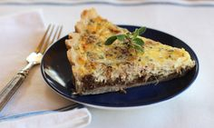 Red Onion, Blue Cheese and Walnut Tart