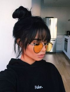 30 Sexiest Wispy Bangs You Need to Try in 2019 - Style My Ha.- 30 Sexiest Wispy Bangs You Need to Try in 2019 – Style My Hairs Amazing and Hot Hairstyle for Mordern Women - Curly Hair Styles, Hot Hair Styles, Medium Hair Styles, Natural Hair Styles, Short Hair With Bangs, Short Hairstyles With Bangs, Medium Length Hair With Bangs, Bangs For Round Face, Medium Hair Cuts For Women With Bangs