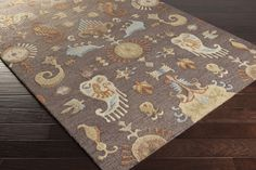 Sprout Area Rug | Ikat and Suzani Rugs Hand Hooked | Style SRT2005
