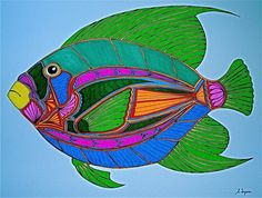 fish c by Sy Tyson  Check out his art. Absolutely amazing. We need to find a gallery to do a show.