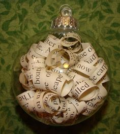 10 DIY Holiday Projects from Story Crush: Bookish Ornament Christmas Baubles, Christmas Projects, Handmade Christmas, Christmas Tree Ornaments, Holiday Crafts, Christmas Crafts, Diy Ornaments, Christmas Ideas, Christmas Christmas